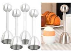 4 toqueurs en acier inoxydable pour œuf