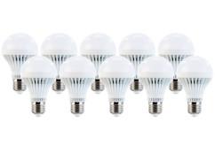 10 ampoules LED 7 W E27 Blanc Luminea