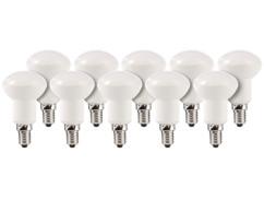 10 ampoules LED avec réflecteur, 6 W, E14 - Blanc