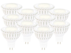 10 spots à LED High-Power, GU5.3, 5 W - blanc chaud