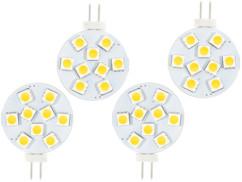 4 ampoules LED SMD à culot G4 - Blanc - 1,8 W