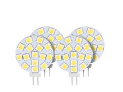 4 ampoules LED SMD à culot G4 - Blanc - 3 W