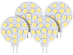 4 ampoules LED SMD à culot G4 - Neutre - 3 W