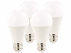 4x ampoule LED supra-puissante 12 W, culot E27, blanc chaud