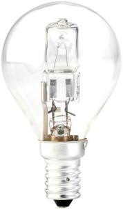 Ampoule halogène globe dimmable - E14 - 46 W - Blanc chaud