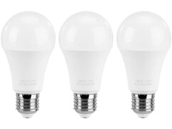 3 ampoules LED E27 High Power 15 W - Blanc chaud
