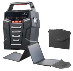 Convertisseur solaire & batterie nomade 75 Ah 230 V HSG-750 - Avec panneau 50 W