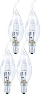 Lot de 4 ampoules halogènes Bougie dimmables - E14 - 42 W - Blanc chaud