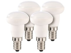 Lot de 4 ampoules LED en céramique, 4 W, E14 - Blanc
