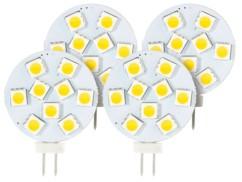 Lot de 4 ampoules LED SMD à culot G4 - Blanc - 1,8 W