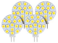 Lot de 4 ampoules LED SMD à culot G4 - Neutre - 3 W