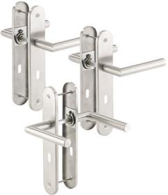 3 poignées de porte à plaque longue en acier inoxydable