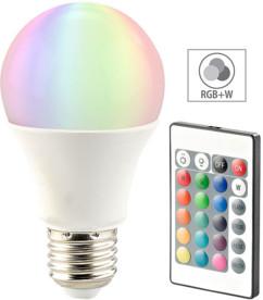 Ampoule LED RVB E27 blanc chaud 7,5 W télécommandée