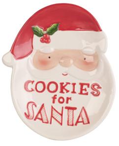 assiette decorative pour noel assiette a biscuit desserts cookies for santa forme père noel