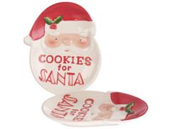 """Lot de 2 assiettes décoratives Père Noël """"Cookies for Santa"""""""