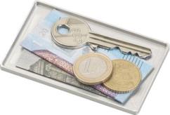 Compartiment de rangement pour étui à cartes de crédit, coloris argenté