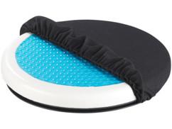 coussin confort en mousse et gel avec socle pivotant pour siege de voiture newgen