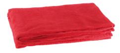 couverture en microfibre rouge 200 cm en polyester wilson gabor