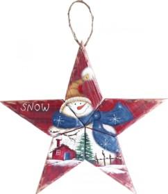 Étoile décorative en bois à suspendre
