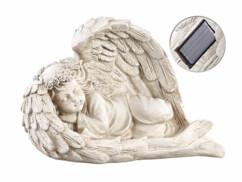 Figurine ange endormi avec éclairage LED par panneau solaire par Lunartec