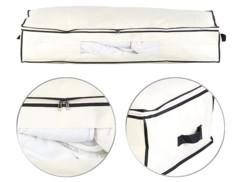 Housse de rangement 86 L pour dessous de lit avec fenêtre transparente - Beige