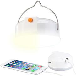 Lampe de camping à LED 3 en 1 avec fonctions anti-moustique et batterie d'appoint, 6000 mAh
