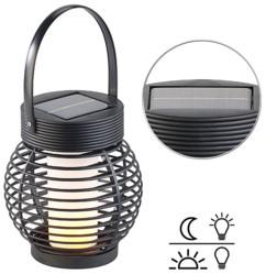 Lanterne de jardin solaire à 51 LED effet flamme et capteur de lumière