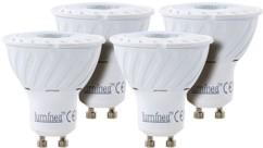 Lot de 4 spots à LED COB GU10 - Blanc - High Power