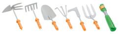 pack d'outils à embouts interchangeable manche amovible pelle, grattoir griffe binette double fourche rateau scarificateur