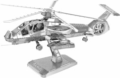 Maquette 3D en métal : Hélicoptère - 41 pièces