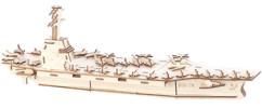 maquette xxl en bois porte avion avec mini avions de chasse infactory pour enfants et adultes maquette a peindre