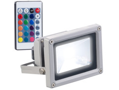 Projecteur d'extérieur 800 lm / 10 W à LED RVB SMD et télécommande