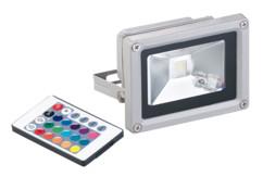 projecteur led rgb rvb à effets pour extérieur avec telecommande et éclairage zones sombres luminea
