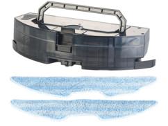 reservoir de rechange avec 2 serpillères neuves pour robot aspirateur et nettoyeur pcr 6000 sichler