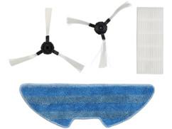 kit de 2 brosses rotatives filtre poussiere hepa et serpillere microfibre pour sichler pcr6000 aspirateur robot automatique