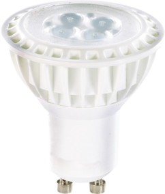 4 Spots à LED High-Power, GU10, 5 W - blanc