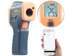 Thermomètre infrarouge professionnel avec bluetooth et pointeur laser