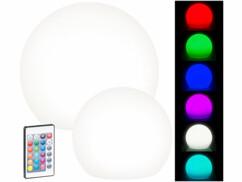 Deux boules lumineuses solaires avec plusieurs modes de couleur.