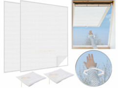 2 moustiquaires avec fermeture à glissière - Blanc