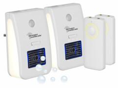 2 veilleuses télécommandées avec ioniseur