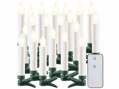 20bougies à LED sans fil pour sapin de Noël d'extérieur avec télécommande