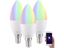 """3 ampoules à LED connectées E14 RVBB """"LAV-90.rgbw"""""""