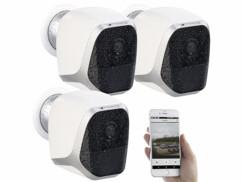 3 caméras IP HD connectées avec support magnétique IPC-580