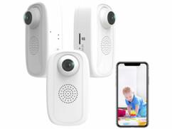 3 caméras wifi Full HD secteur avec bouton d'urgence IPC-250.fhd