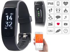 """Bracelet fitness étanche """"FBT-120.hr"""" à écran tactile XL"""