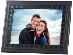 cadre photo avec camera espion hd et cadre moulé travaillé design véritable cadre en bois peint