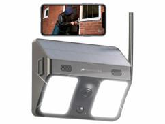 Caméra connectée avec cellule solaire et projecteur LED IPC-780.solar - Noir