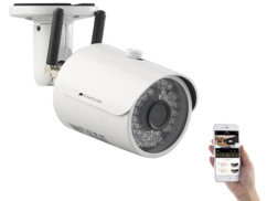 caméra de surveillance hd ip wifi avec application android ios vision nocturne infrarouge visortech ipc 635