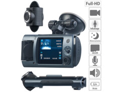 Caméra embarquée Full HD à 2 objectifs, ultra-grand angle 150° et capteur Sony MDV-1915.dual