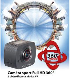 caméra full hd avec double lentile à 360 Somikon dv-1936.wifi